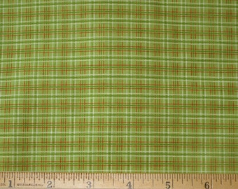 Fox Trails Green, Orange, Brown Plaid Riley Blake Designs