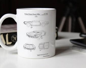 1962 Chevrolet Covair Super Spyder Concept Patent Mug, Chevrolet Mug, Garage Decor, Concept Mug, Car Enthusiast, PP0489