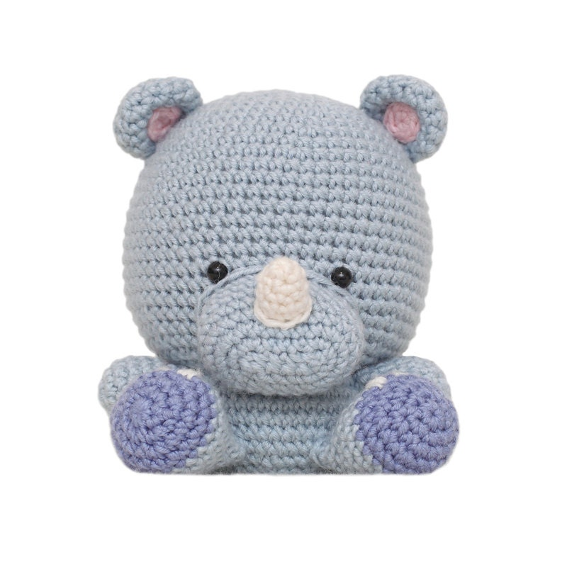 Amigurumi Rhino : Rufus the Rhino Amigurumi Pattern from fatfaceandme on ...