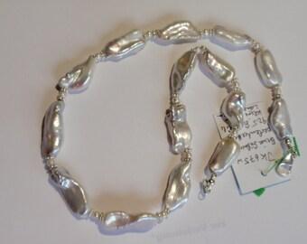 Biwa Pearl Necklace  (JK675)