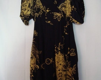 "Navy Flowered Print Dress//""SALE"""
