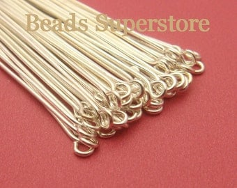 SALE 2 Inch (50 mm) Silver-Plated Eye Pin - Nickel Free and Lead Free - 100 pcs (EP2S)