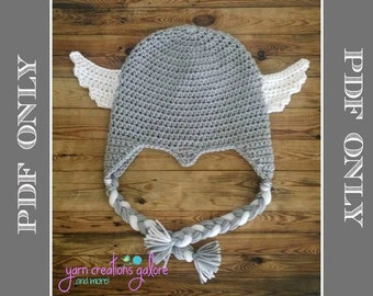 Crochet THOR Hat Pattern ** PDF File ONLY*** Instant Download