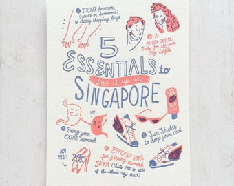 5 Essentials to live it up in Singapore Postcard