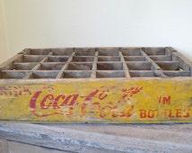 Display shelf,  Coke bottle crate, Coke crate, rustic display shelf, Knick knack shelf, Shadow box, Storage bin, Planter box