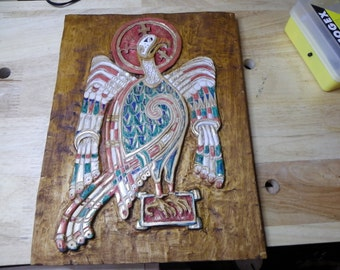 ST John eagle, book of Kells, medieval, religious and celtic art