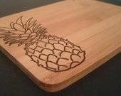 Pineapple Chopping Board, Hand Burned Chopping Board