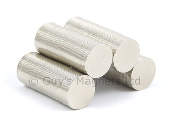 11mm x 0.5mm strong N52 neodymium round circular disk magnets ideal for magnetic card closures GuysMagnets