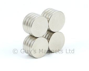 12mm x 2mm strong N52 neodymium round circular disk magnets ideal for florist craft corsage magnet GuysMagnets