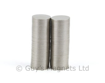 10mm x 0.5mm strong N52 neodymium round circular disk magnets ideal for magnetic card closures GuysMagnets