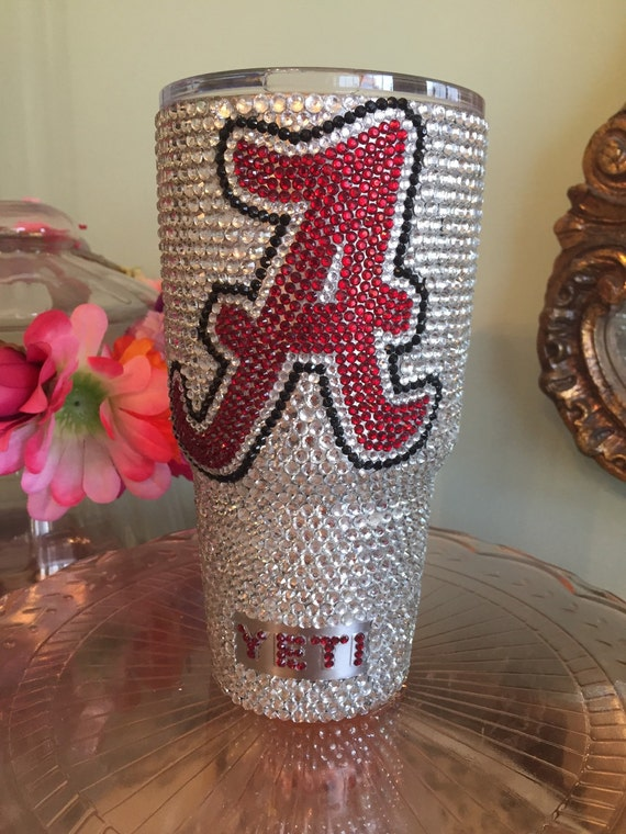 Rhinestone 30 oz Yeti Rambler with Collegiate Logo/Monogram
