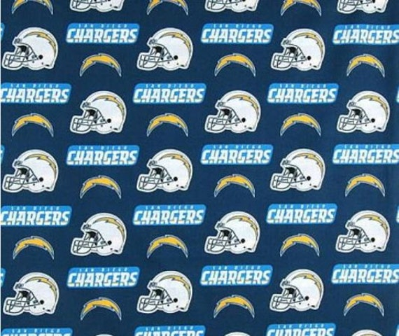 San Diego Chargers Fleece Fabric: NFL SAN DIEGO Chargers Licensed Fleece Fabric Sold By The Yard