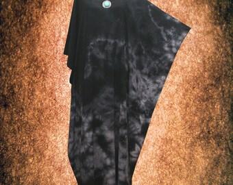 Maternity Plus Size Tie Dye Kaftan Dress Monochrome hand dyed Artwork Caftan