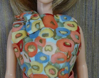 One of a Kind 3-Piece Gold Pencil Skirt Ensemble for Barbie