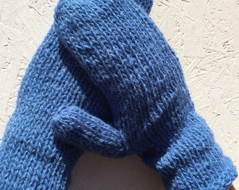 sale off 20% blue wool gloves knitted mittens  men  mittens men glove winter gloves,  gloves Knitted Wool Mittens christmas gift for  men
