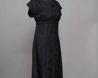 50s Black floral pretty party dress