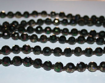 8 mm Faceted Crystal beads. Czech  glass  Faceted brown beads/