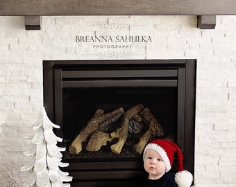 Santa Hat, Baby to Kids sizes, Christmas Hat for Kids, Photo Prop for Christmas cards