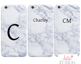 Personalised Marble iPhone 4/4S 5 5c 5s 6 plus Samsung Galaxy S2 s3 s4 s5 Ace iPod Touch 4th 5th 6th hard case