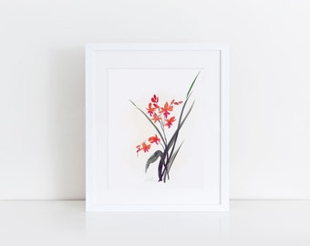 orchid 4- watercolour art print