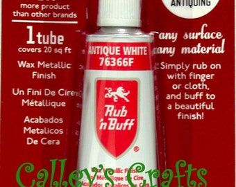 Amaco  Rub-N-Buff-Wax-Metallic-Finish-Antique White-76366F-Crafts-Antiques-etc