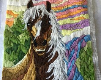 Latch hook horse portrait