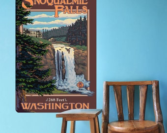 Snoqualmie Falls Washington Wall Decal - #60740