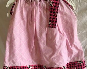 Custom Pink w/ Skulls Girls Pillowcase Dress