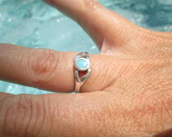 Turquoise and Sterling Silver Ring Size 5.75