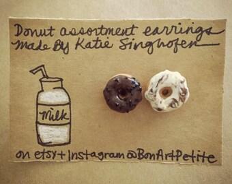 Assorted donut earrings