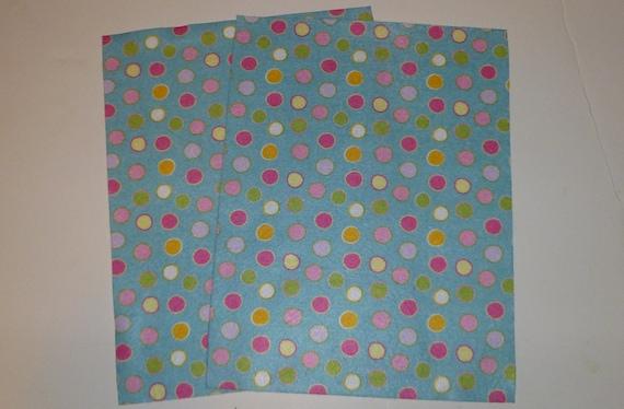 Polka dot felt blue and pink material polka dots felt for Polka dot felt fabric
