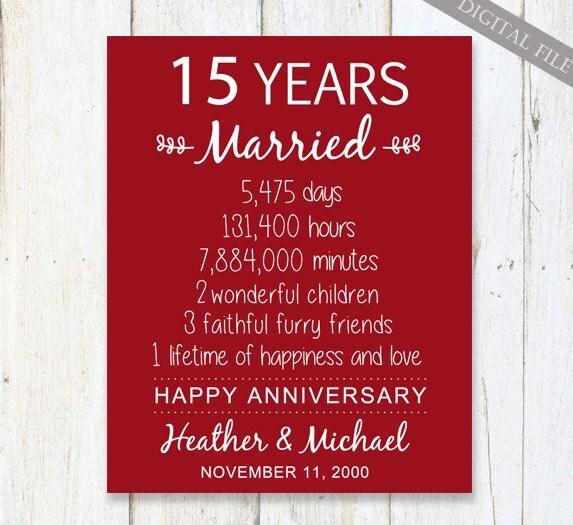 15 Year Wedding Anniversary Gifts: 15th Anniversary Gift 15 Years Wedding Anniversary