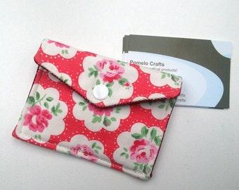 Business card case, credit card holder, loyalty card holder, fabric business card holder in Cath Kidston print