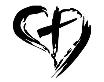 cross decal jesus cross bumper sticker by stickermaniadecals