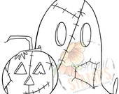 "Digital Stamp ""Patchwork Ghost""- Two Dollar Deal"