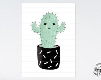 Kaktus Poster Print Wanddeko Download Printable