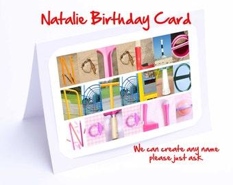 Natalie Birthday Card Personalised