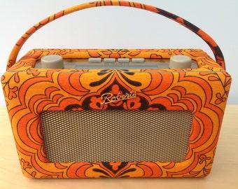 Roberts Revival DAB Radio - Flower Power Orange Sound Waves