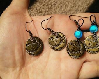 Moon earrings.