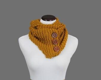 Mustard Yellow Knit Infinity Scarf