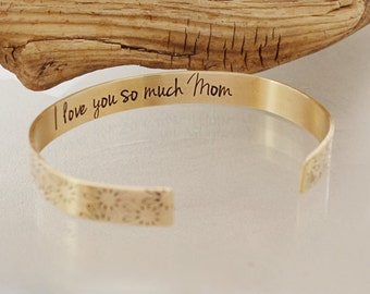 Mom Jewelry - Gifts for Mom - Mom Gifts - I Love You - Mothers Day Gift - Personalized Bracelet - Jewelry for Mom by Pink Lemon Design