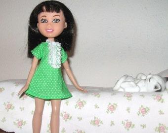 Polka dot dresses for Bratz, make-under dolls, treehouse dolls