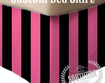 Custom Made to Match Bed Skirt - Design Your Own, Made to Match Southern Basics, Twin, Twin XL, Queen, King