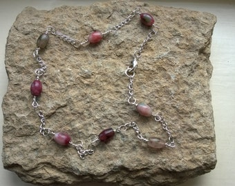 Tourmaline and chain necklace