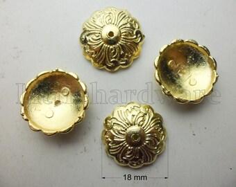 Golden beautiful upholstery tacks/thumb tacks/decorative tacks/Upholstery Decorative Nails/tacks  - 20 Pcs - 18mm×18mm  - UN52