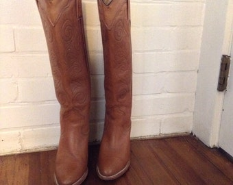 Vintage Frye Cowboy Boots Size 5