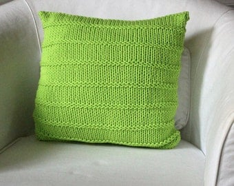 CHUNKY KNIT CUSHION yello green