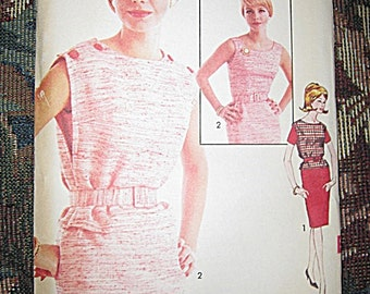 Sew Easy Printed Pattern By Advance, #3223, 1960's Dress And Vest, Size 14, Uncut Vintage Sewing Pattern