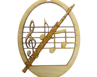 Flute Ornament - Musician Christmas Ornament - Flute Christmas Ornaments - Musician Gifts - Flute Ornaments - Personalized Free