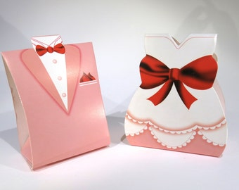 "40pc ""bride and groom"" wedding favor boxes (D10)"